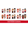 europeans in national clothes southern europe vector image