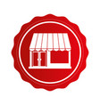 exterior store building icon vector image