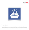 food icons - blue photo frame vector image