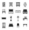 Furniture icons set simple style
