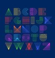 geometric shapes linear alphabet vector image vector image