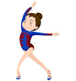 Girl doing gymnastics floor exercise vector image vector image