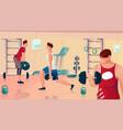 gym bodybuilding flat composition vector image