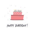 Happy birthday cake lettering card
