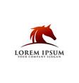 horse head logo design concept template design vector image vector image