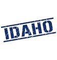 Idaho blue square stamp vector image vector image