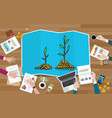 investment tree team discuss invest investment vector image vector image