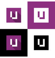 letter u logo icon square shape design vector image vector image
