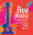 live music poster with multicolor acoustic guitar vector image