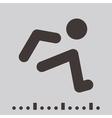long jump icon vector image vector image