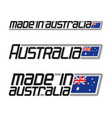 made in australia vector image