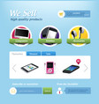 Mini e-commerce website template vector image vector image