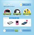mini e-commerce website template vector image vector image