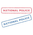 national police textile stamps vector image vector image