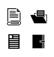 office documents simple related icons vector image