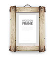 Old Wooden Frame with White Paint vector image