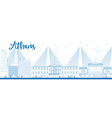 Outline Athens Skyline vector image