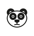 panda icon on white background vector image vector image