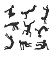 Parkour people vector image
