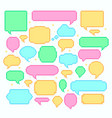 pixel speech bubbles talk and communication vector image vector image