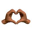 polygonal human hands show shape heart vector image