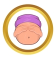 Pregnant belly icon cartoon style vector image