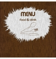 restaurant menu paint on wooden background uno vector image