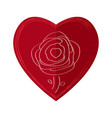 rose on a heart vector image vector image