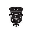 sea captain black concept icon sea captain vector image