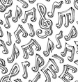 seamless pattern of sketch music notes vector image vector image