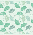 seamless pattern with ginkgo biloba leaves vector image