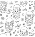 seamless pattern with santa vector image