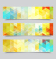 set abstract geometric banners eps10 vector image