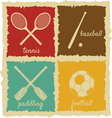 Set of Vintage Sport Labels vector image vector image