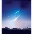Shoot star landscape vector image vector image