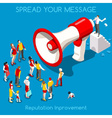 Social Promotion Concept Isometric vector image