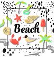 summer beach vacation design with seagulls vector image vector image