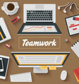 Trendy Flat Design Teamwork office vector image vector image