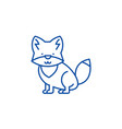 wolf line icon concept wolf vector image