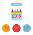 calendar icon 2018 new year 2018 vector image