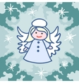 Christmas angel doodles vector image