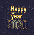 2020 happy new year merry christmas holiday vector image vector image