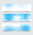 abstract blue horizontal banners vector image