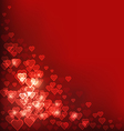 Abstract heart Bokeh red background vector image vector image