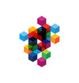 abstract modern transparent geometric composition vector image vector image