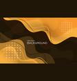 abstract yellow liquid geometric design creative vector image
