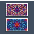 banner with geometric mosaic pattern vector image