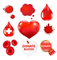 Big Collection With Blood Drop And Heart vector image vector image
