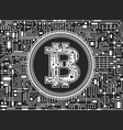 bitcoin digital currency background vector image vector image