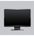 black monitor transparent background vector image vector image